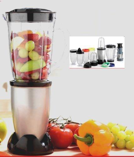 Multi Mixer Blender Küchenmaschine 17 Teile in Silber