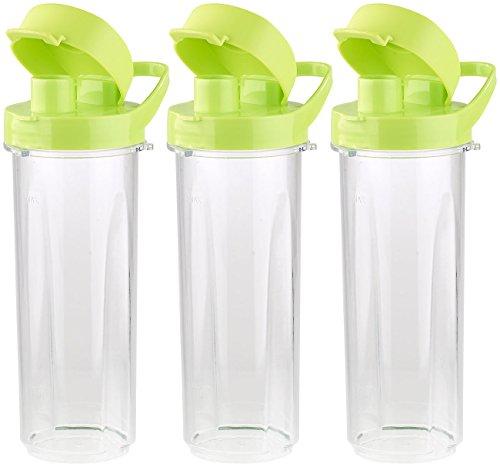 Rosenstein & Söhne Mix- & Trinkbecher für Smoothiemixer BR-500, 500 ml, BPA-frei, 3er-Set