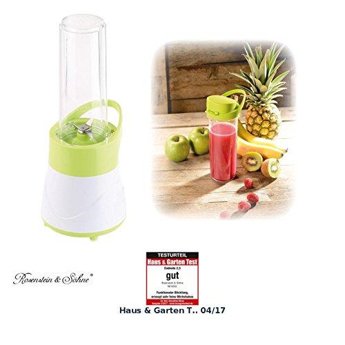 Rosenstein & Söhne 2in1-Smoothie- & Standmixer mit Trinkbecher, BPA-frei, 500 ml, 400 W