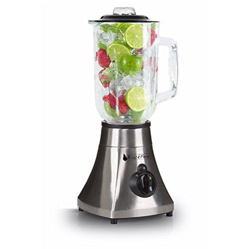 Standmixer Edelstahl Schüssel Glas 400W Black Pear